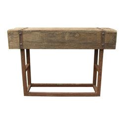 #N/A - Orso Bar Base Natural - Orso Bar Base Natural. Bar height table. Dull finish resulted in retaining the wood's natural character.
