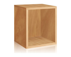 Way Basics - Way Basics Eco Stackable Storage Cube Plus, Natural - Why purge when you can neatly stack and store? Super cubes come to the rescue in a dorm room, studio apartment, home office or other space-challenged place. They're a breeze to build (just peel and stick!) and formaldehyde- and VOC-free.