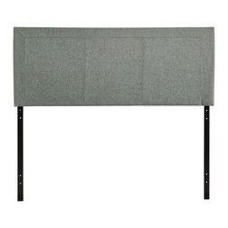 """Modway - Isabella Queen Headboard in Gray - Reach back to the height of fashion with the Isabella padded faux leather headboard. Finely upholstered stitching develop an array of three columns supported by a generous border all around. Instead of fading away behind the other elements of your room's decor, Isabella holds tight to its prominence. It is a piece that is pleasing to the eye, while presenting a design that is at once clean and complex. Set Includes: One - Isabella Headboard. Contemporary queen sized headboard; Headboard only; Wipe clean with a slightly damp cloth; Assembly required; Overall Product Dimensions: 2.5""""L x 61.5""""W x 23.5""""H"""