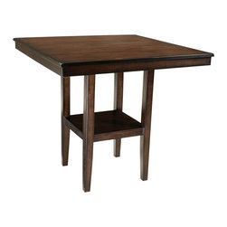 Standard Furniture - Standard Furniture Pendelton 40 Inch Counter Height Table in Dark Cherry - Pendelton is inspired by casual transitional styling with clean confident lines. Quality veneers over wood products and select solids used throughout. Group may contain some plastic parts. Dark cherry color finish. Surfaces clean easily with a soft cloth