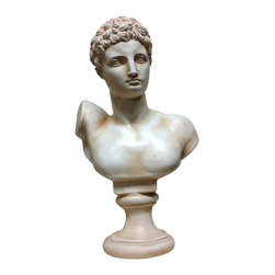 Casa de Arti - Classic Sculpture Bust of Greek God Hermes Famous Reproduction Decor Statue - Beautiful bust of the Greek God Hermes, or Roman God Mercury, perfect for your home decor at an incredible price!