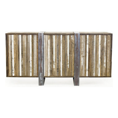 Eco Friendly Furnture and Lighting - Handbrushed raw wood with symmetrically oxidized finishing.