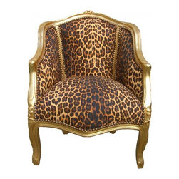 Lansky Studio - Dana French Louis XV style Lounge Chair in Leopard - A fabulous French Louis XV style lounge chair that will fit in with any decor and in any room.