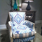 High Point Market 2013 - New fabric combination by Sam Moore. We love it!