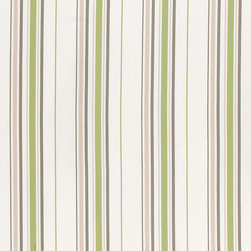 "Ballard Designs - Cumberland Stripe Green EasyCare Fabric by the Yard - Content: 100% Solution-dyed Acrylic. Repeat: Non-railroaded fabric, 8.07"" Repeat. Care: Machine wash warm with mild soap, air dry. Width: 63"" wide. Stripes of taupe, white and green woven in washable, EasyCare acrylic.. . . . Because fabrics are available in whole-yard increments only, please round your yardage up to the next whole number if your project calls for fractions of a yard. To order fabric for Ballard Customer's-Own-Material (COM) items, please refer to the order instructions provided for each product.Ballard offers free fabric swatches: $5.95 Shipping and Processing, ten swatch maximum. Sorry, cut fabric is non-returnable."