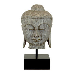 Benzara - Resin Buddha Bust in Silver Leaf Finish - Are you a Buddha follower? This Resin Buddha bust is perfect item to add peace and serenity to your living space. Made of quality resin this Buddha bust will last for years. Silver leaf finish will flourish your room ambience with vintage feel. It renders relaxing and soothing atmosphere. You can concentrate this resin Buddha bust and practice better meditation.This Buddha bust will soothe your senses and stimulate your spirit. This attractive Buddha bust supports all kinds of decor. Besides, it also fits well in big garden, small garden and outdoor patios. For all those religious Buddhist followers they can add this exclusive resin Buddha bust to their abode and worship it respectively. Wrap this exquisite Buddha bust to your near and dear ones and surprise them. They'll be surprised to add one to their interiors. Did you get one?. Resin Buddha bust measures 15 inches (W) x15 inches (D) x30 inches (H); Made of high quality resin; Features silver leaf finish
