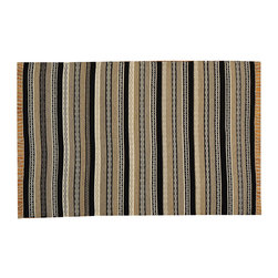 Striped Durie Kilim 100% Wool Flat Weave Hand Woven 4'x6' Oriental Rug SH15660 - Soumaks & Kilims are prominent Flat Woven Rugs.  Flat Woven Rugs are made by weaving wool onto a foundation of cotton warps on the loom.  The unique trait about these thin rugs is that they're reversible.  Pillows and Blankets can be made from Soumas & Kilims.
