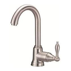 Danze - Danze Fairmont Prep Sink/Bar Single Handle Faucet, Stainless Steel - Danze Fairmont Single Handle Bar / Prep Faucet