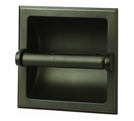 DHI-Corp - Millbridge Recessed Toilet Paper Holder, Oil Rubbed Bronze - The Design House 539254 Millbridge Recessed Toilet Paper Holder is a classic addition to any bathroom. This recessed toilet paper holder is constructed of zinc and aluminum with a plastic bar. Finished in oil rubbed bronze and measuring 6-inches, this holder has squared details and a sturdy design. Easily snap the plastic bar on and off to add a new roll. This product requires a minimum installation hole of 3.26-inches. A standard mount and concealed screws are included for easy installation. The Millbridge Collection features a matching towel bar, towel ring and robe hook for a complete bathroom set to enjoy for years to come. The Design House 539254 Millbridge Recessed Toilet Paper Holder comes with a 1-year limited warranty that protects against defects in materials and workmanship. Design House offers products in multiple home decor categories including lighting, ceiling fans, hardware and plumbing products. With years of hands-on experience, Design House understands every aspect of the home decor industry, and devotes itself to providing quality products across the home decor spectrum. Providing value to their customers, Design House uses industry leading merchandising solutions and innovative programs. Design House is committed to providing high quality products for your home improvement projects.