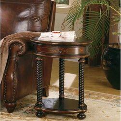 Hooker Furniture - Hooker Furniture Westcott  Round Accent Table 989-50-104 - This table, in a popular silhouette, is perfect beside a chair or at the end of a sofa.