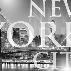 """Komar - New York City Wall Mural - This mural is 6' x 4'2"""" and comes as one easy to install panel. Made in Germany. Roll Coverage: 25 square feet. Paste Included."""