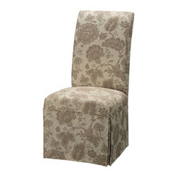 """Powell - Powell Woven Gold with Taupe Floral Pattern Skirted """"Slip Over"""" Slipcover X-... - Designed exclusively for our """"Slip Over"""" Seating, this soft, inviting slipcover retains its smooth fit and removes easily for cleaning or changing. The Woven Gold with Taupe Floral Pattern Skirted """"Slip Over"""" is made from chenille - 60% polyester, 40% rayon. """"Slip Over"""" slipcovers are a perfect way to make your existing chairs different and new. For use with 741-440 chair."""