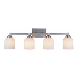 """Savoy House - Savoy House 8-4658-4 4 Light 33.87"""" Wide Bathroom Fixture Wilmont Colle - Wilmont Collection 4 Light Bathroom Fixture33-7/8""""W x 9-1/2""""H x 7-3/8""""E4E 100WEtched Opal White Glass"""