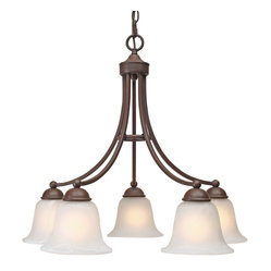 Golden Lighting - Candace 5 Light Nook Chandelier, Rubbed Bronze - Save the melodrama. This fixture has got all the elegance of a traditional chandelier, but with a clean, modern design. It's just the entryway or dining room lighting solution you've been looking for.