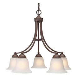 Golden Lighting - Golden Lighting Candace 5-Light Nook Chandelier - Save the melodrama. This fixture has got all the elegance of a traditional chandelier, but with a clean, modern design. It's just the entryway or dining room lighting solution you've been looking for.