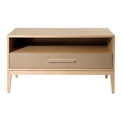 Cliff Young Ltd. - Cassidy 1 Drawer Nightstand - With just the right amount of bedside storage, this airy and relaxed nightstand will become your new favorite piece of furniture.  Fully customizable.