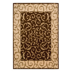 "Nourison - Nourison Versailles Palace Oriental Srolls Chocolate 7'6"" x 9'6"" Rug by RugLots - Fit for royalty, as the name suggests! This collection features stunningly elegant designs inspired by 18th Century French carpets and handmade with intriguing articulation from the highest quality wool. Features a dense, luxurious pile and hand-carved for added dimension with delicate accents that are a pleasure to both look at and touch."