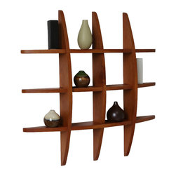 "Welland - Welland Lexington Globe Cross Display Wall Shelf, Honey Oak - This cross display shelf is made from pine wood. You can hang it to create library, display and highlight a favorite collectible. Package Included: (1) Lexington Globe Wall Shelf, Size: 29.5H"" x 4.25""D x 29.5""L"