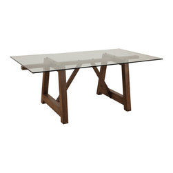 Bassett Mirror - Bassett Mirror Ellsworth Dining Table 2891-600-723EC - Bassett Mirror Ellsworth Dining Table 2891-600-723EC