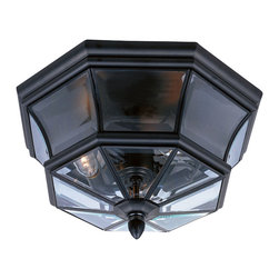 Quoizel - Quoizel Mystic Black Exterior - SKU: NY1794K - When it comes to curb appeal, outdoor lighting plays a large part in creating a special ambiance. The classic design and beveled glass of the Newbury gives the outside of your home a rich elegance, without making it look over-embellished. It's a versatile look that coordinates with most any architectural style.