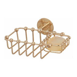 """Renovators Supply - Soap Dishes Bright Brass Soap Basket Wall Mount Soap Dish 