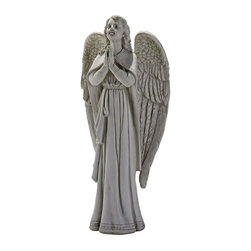 EttansPalace - Heavenly Angel Home Garden Statue Sculpture - Oh, may there be such a heavenly angel whispering prayers into Gods ear on our behalf! The classic sculpt of our exclusive inspirational angel statue is a sure garden focal point, from feathered wings and earnest expression to folded hands. This traditional, faux-stone-finished, quality designer resin Angel sculpture masterpiece is an inspired choice sure to bathe your garden in prayer. Another quality garden angel statue from !