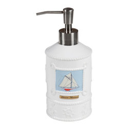 Creative Bath Products - Creative Bath Sailing Lotion Pump Multicolor - SAL59BLU - Shop for Bath Accessories from Hayneedle.com! About Creative BathFor over 30 years Creative Bath has developed innovative stylish bathroom decor items. They have grown exponentially and now you can find their products in major retail and online stores around the world. From shower curtains to soap dishes and everything in between Creative Bath brings you high quality items to enhance your lifestyle.