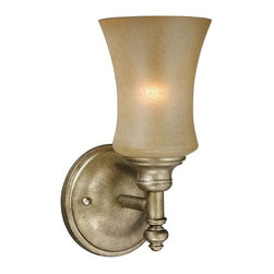 Vaxcel Lighting - Vaxcel Lighting Newbury Traditional Wall Sconce X-BV100ULV-BN - The curves of this Vaxcel Lighting wall sconce pair beautifully with the traditional elements of the design, such as the beveled finial. From the Newbury Collection, this traditional wall sconce also incorporates rich tones throughout, which add to its upscale feel. Venetian Brass finishing pairs perfectly with the sandstone glass.