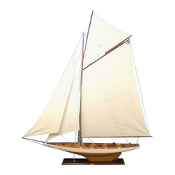 "Handcrafted Model Ships - Columbia 80"" - Wooden Sailboat - Not a model ship kit"