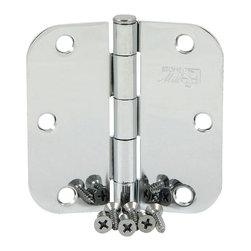 "Stone Mill Hardware - Stone Mill Hardware 3.5"" Polished Chrome Door Hinge 5/8"" Radius with Screws - Stone Mill Hardware 3.5"" Polished Chrome Door Hinge 5/8"" Radius with Screws - (2 Pack)"
