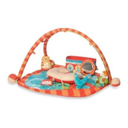Boppy - Boppy Flying Circus Play Gym with Collapsible Toy Box - Creating the perfect play area for your baby is easy with the Boppy Play Gym. An oversized pad provides plenty of room for playing, stretching, and rolling around, while an included mini Boppy Pillow ensures maximum playtime comfort.