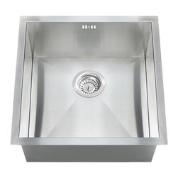 GOLDEN VANTAGE - GV 17-Inch Stainless Steel Handmade Kitchen Sink Undermount W/Strainer Pipe Set - Our affordable handmade stainless steel kitchen sink offer the most improved quality that make us a good choice for any environment. With durability, bigger bowl capacity and also easy to take care of, because the metal imparts a rich glow and adds corrosion resistance it will never get rusted, we use T-304 stainless steel and heavy duty sound deadening pads on all of our GV sinks.