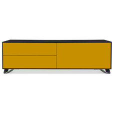Contemporary Buffets And Sideboards Boomerang Black-Yellow Special Edition Sideboard Medium