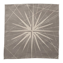 Montauk Compass Rose Napkin, Set of 2, Stone/Tan