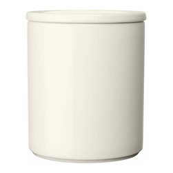 "Iittala - Purnukka Jar 5"", White - Looking to contain that counter clutter? This handy storage canister measures up to the task! Classic lines give a kitchen a fresh, clean look and the crisp, uncomplicated Finnish design keeps your tea, coffee and flour easy to reach and stylishly stored."