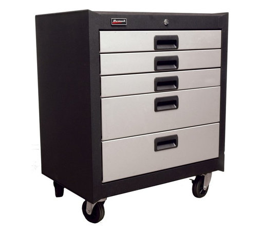 Homak - Homak 5 Drawer Mobile Cabinet Multicolor - GS04005270 - Shop for Cabinets from Hayneedle.com! Hard work is about to get a whole lot easier with the Homak 5 Drawer Mobile Cabinet. This heavy-duty steel unit features 5 drawers with ball bearing glides that open smoothly and are capable of storing an impressive amount of tools and other necessary supplies. This is a great way to not only keep your shop organized but secure as well. The HMC high-security tubular locking system offers peace of mind while the 4 swivel casters add convenience making this a must-have for any garage or workshop. Measures 26.875W x 18D x 31H inches.About HomakWhat's a Homak? Who is a Homak? Who knows? The founder Sigmund H. Danziger saw the title on a sign in a hat store and found it so memorable that he used it for the manufacturing company he founded in 1947. And guess what? It worked. The name Homak might not have meant much at first but today it stands for Serious. Professional. Solutions. It's a brand that's been defined by its quality in steel kitchen cabinets in the 50s hardware in the 60s and as of 2005 they've added tool storage and gun cabinet security to that list. If it's affordable and dependable there's no better word for it than Homak.Please note this product does not ship to Pennsylvania.