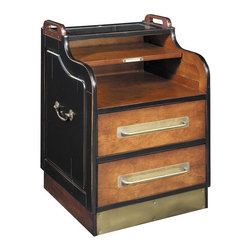 "Inviting Home - Ritz Hotel Cabinet - Reproduction of Ritz Hotel concierge cabinet 19-3/8"" x 19-3/8"" x 28-3/8""H Reproduction of Ritz Hotel concierge cabinet with heavy campaign handles and drawer pulls; cabinets top inlaid with glass panel. Who wouldn��_��__t want to own the wall cabinet of the Ritz Hotel concierge in Paris? Not too large but not small. Cabinet offers spaces for keys mail wallets and mislaid purses newspapers and the occasional bottle of Mo��_��__t Chandon. Packages large and small umbrellas city maps and phone books. Cabinet has 2 drawers to hold miscellany. A microcosm of human needs..."