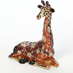 Z Gallerie - Giraffe Trinket Box - This burnt orange Giraffe Jewelry Box puts a smile on my face.