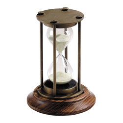 Bronzed 30-Minute Hourglass, 18th Century Industrial Design Replica - This hourglass is such a statement piece. It is so traditional, but it could totally work in a more eclectic setting as well.