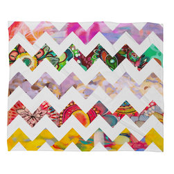 DENY Designs - Stephanie Corfee Chevron No 1 Fleece Throw Blanket - This DENY fleece throw blanket may be the softest blanket ever! And we're not being overly dramatic here. In addition to being incredibly snuggly with it's plush fleece material, it's maching washable with no image fading. Plus, it comes in three different sizes: 80x60 (big enough for two), 60x50 (the fan favorite) and the 40x30. With all of these great features, we've found the perfect fleece blanket and an original gift! Full color front with white back. Custom printed in the USA for every order.