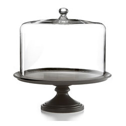 Martha Stewart Collection Serveware, Black Ceramic Cake Stand with ...