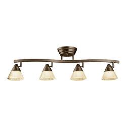 Kichler - Kichler No Family Association 4 Light Track Lighting in Olde Bronze - Shown in picture: Kichler Fixed Rail 4Lt LED in Olde Bronze