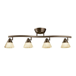 Kichler - Kichler No Family Association 4 Light Track Lighting in Olde Bronze - Shown in picture: Kichler Fixed Rail 4Lt LED in Olde Bronze