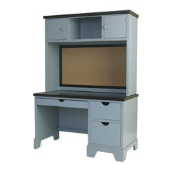 Newport Cottages Andies Desk and Optional Hutch - When your child needs a writing desk, consider a desk with a hutch. Combining storage with a work surface, this piece will hold up for years of happy usage. Yes even homework is awesome from here.