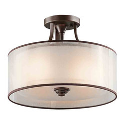 Kichler Lighting - Kichler Lighting 42386 Lacey Semi-Flush Mount - 3, 100W Medium