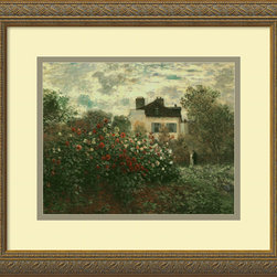 Amanti Art - The Artist's Garden at Argenteuil, 1873 Framed Print by Claude Monet - Among Monet's many talents was his ability to take a simple scene and perfectly capture its beauty. This artwork comes ready to bring splendor into your home custom framed in embossed antique gold.