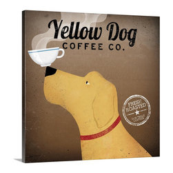 Yellow Dog Coffee Co. Wall Art from Great BIG Canvas by Ryan Fowler. - Yellow Dog Coffee Co. Wall Art.  Available at www.GreatBigCanvas.com as a stretched canvas, framed print, print, or wall peel, in various sizes, by Ryan Fowler.