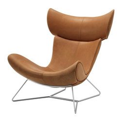 Imola Chair - Relax in this modern, adjustable lounge chair. Available in leather or fabric.