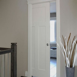 Craftsman Molded Interior Doors - Respecting tradition, embracing innovation - Lynden Door Craftsman pocket door.