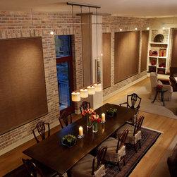 skyline drapes, blinds hunter douglas - hunter douglas skyline window  panel for your dining room ,